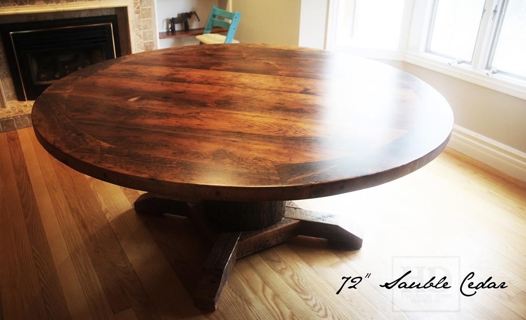 reclaimed wood round table in toronto blog. Black Bedroom Furniture Sets. Home Design Ideas
