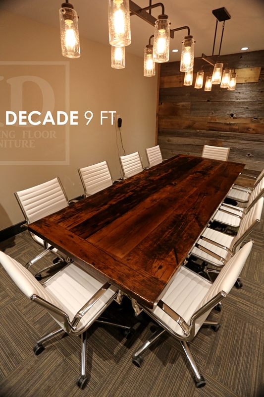 Boardroom Tables, Reclaimed Wood Tables Ontario, Epoxy