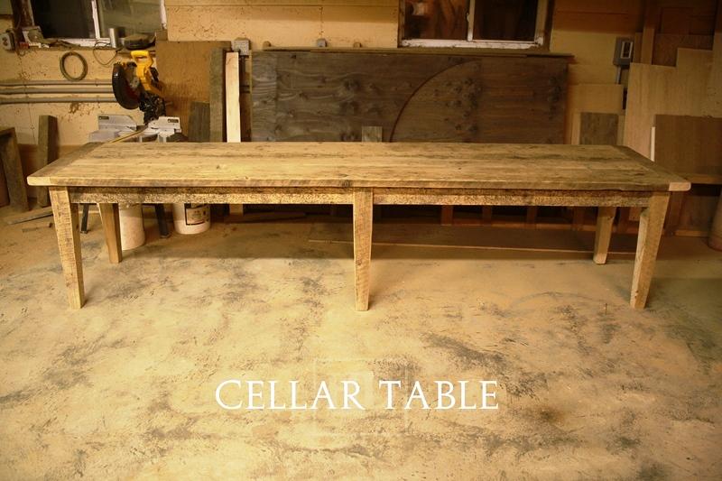 Custom Reclaimed Wood Harvest Table, reclaimed hemlock, waterloo ...
