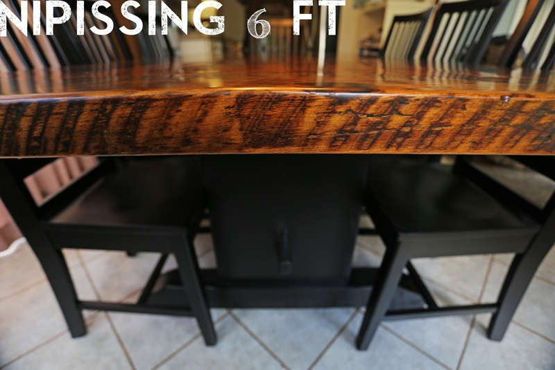 Reclaimed Wood Tables Ontario Kitchener Epoxy Finish Dining Farmhouse Mennonite Furniture