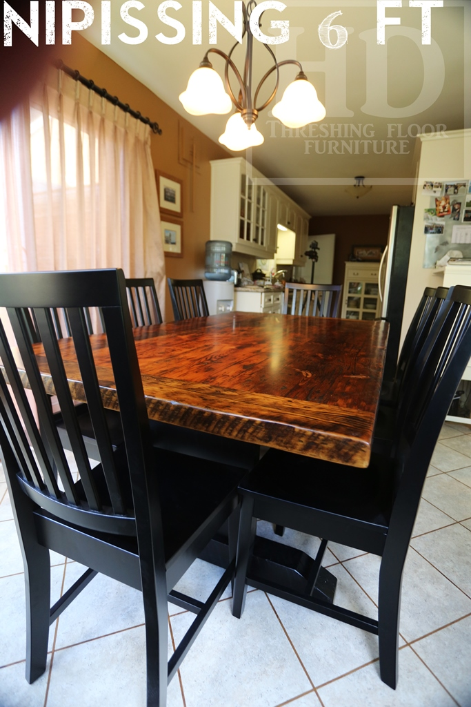 Kitchener reclaimed wood tables trestle base ontario hd