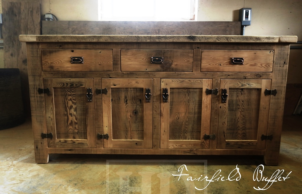 Reclaimed wood buffet console cabinet london ontario