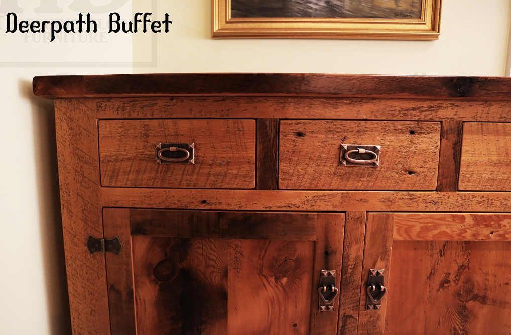 Reclaimed Wooden Buffets ~ Reclaimed wood buffet in oakville ontario with epoxy