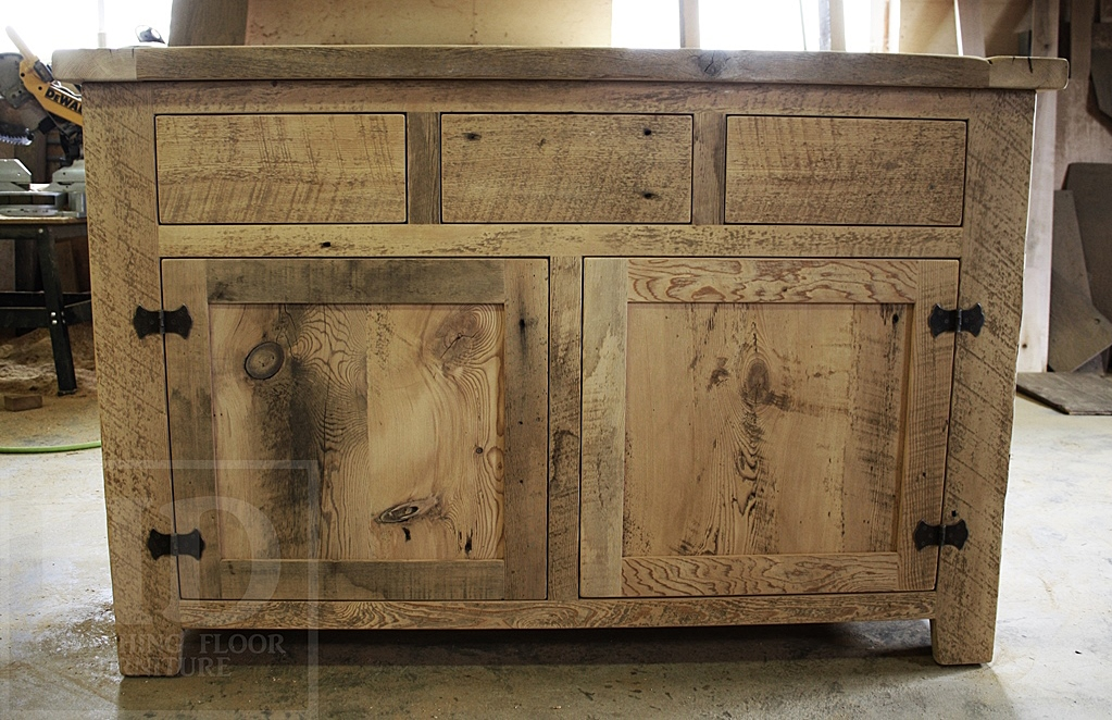 Reclaimed Wood Buffet In Oakville Ontario With Epoxy