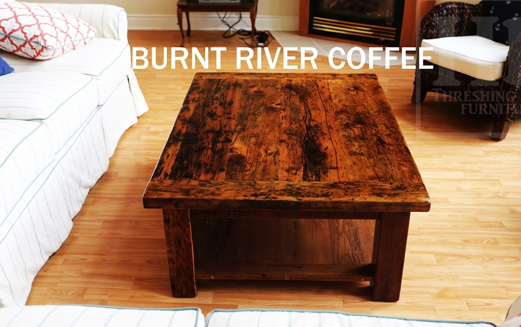 Beautiful Reclaimed Wood Coffee Table In Burnt River Ontario Cottage Blog
