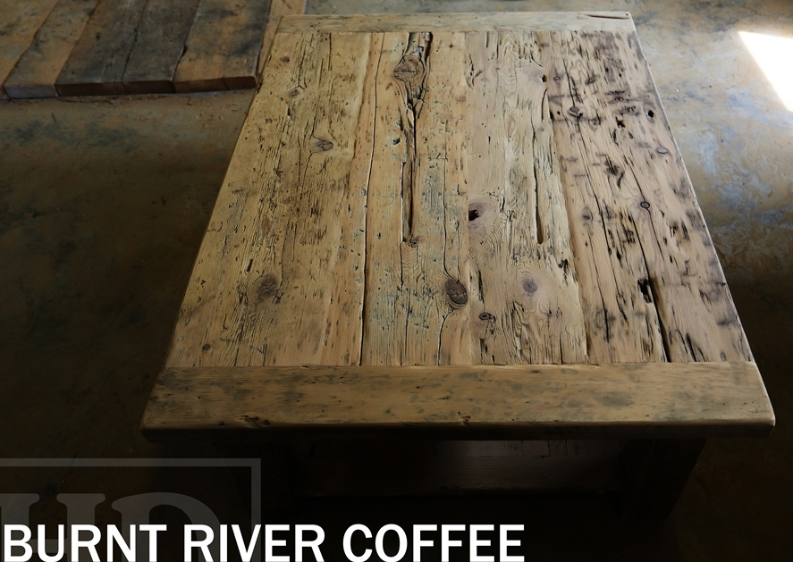 Reclaimed Wood Coffee Table Barnwood Cottage HD Threshing Burnt