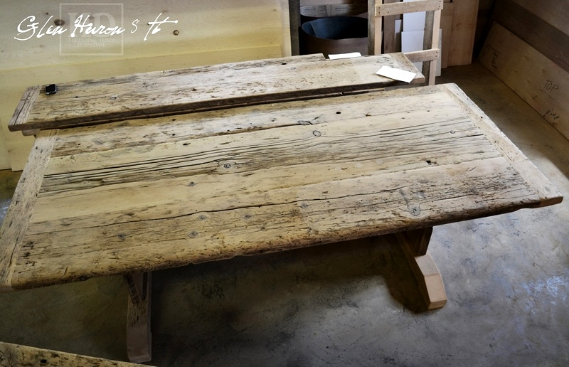 Brilliant Reclaimed Wood Cottage Table Glen Huron Ontario Epoxy