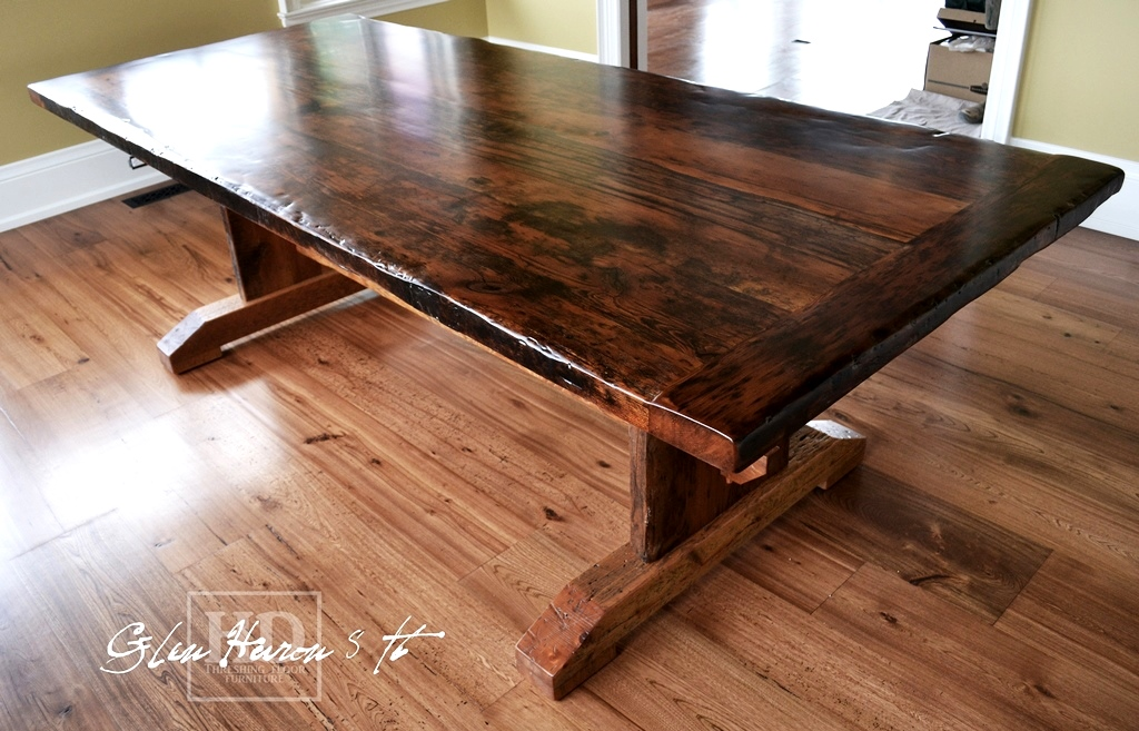 The Warmth of Reclaimed Wood: Trestle Table in Glen Huron ...