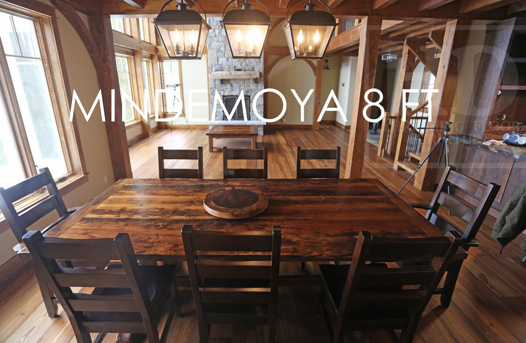 Reclaimed Wood Sawbuck Table In Midemoya Ontario Cottage Blog