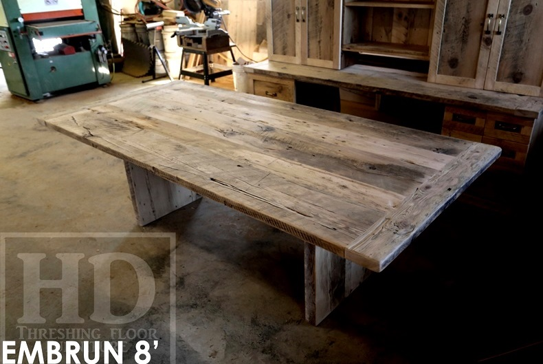 Reclaimed Wood Cottage Table Puslinch Lake Ontario Hd Threshing 8 Blog