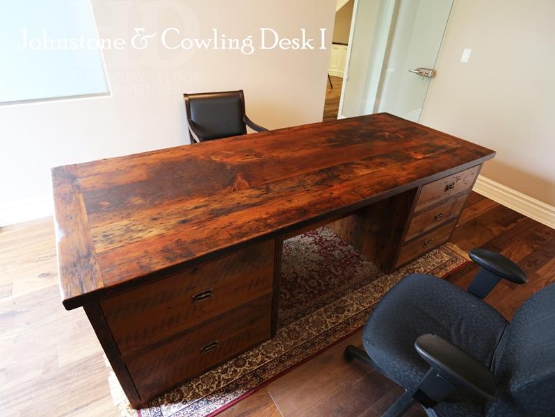 Reclaimed Wood Desk with Threshing Floor Walls in Toronto