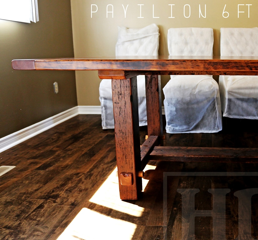 Reclaimed Wood Dining Table Newmarket Ontario Gerald