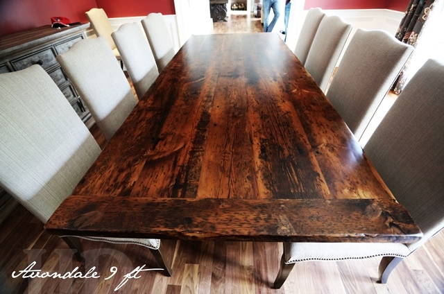 Reclaimed Wood Dining Tables Kleinburg Ontario Epoxy 5