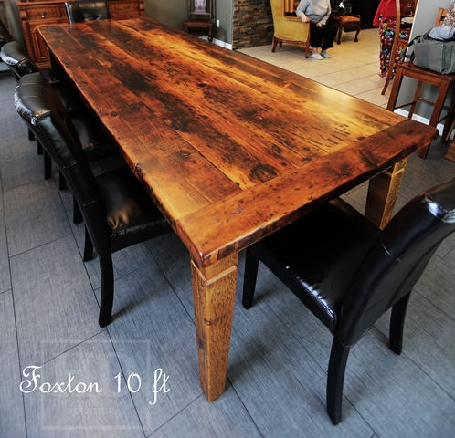 Details: 10 foot Harvest Table – 42″ wide – Premium epoxy/matte ...