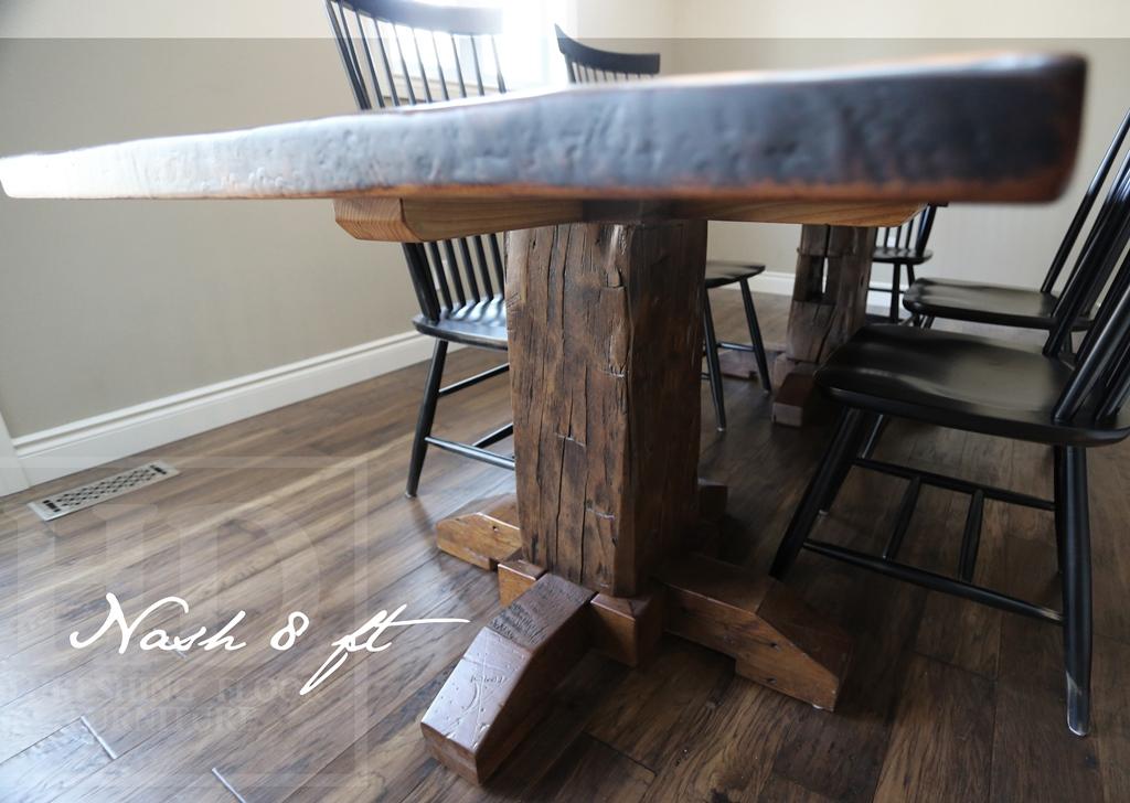 Reclaimed Wood Pedestal Tables Ontario Kitchener Epoxy Blog