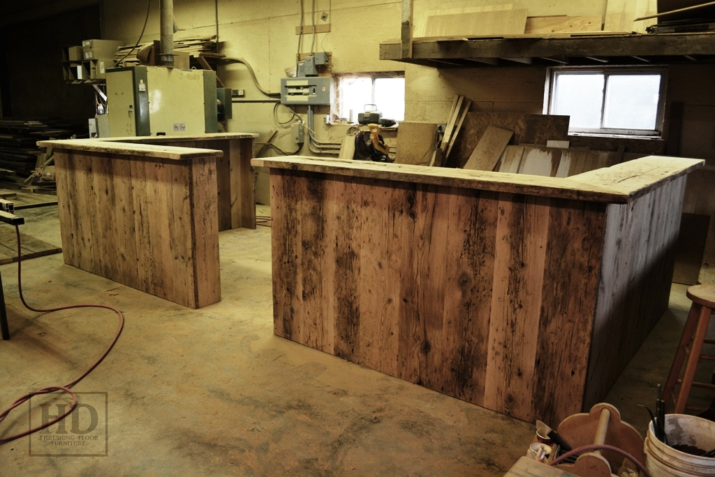 Reclaimed Wood Reception Desks Ontario Desk Custom Hd Threshing Gerald