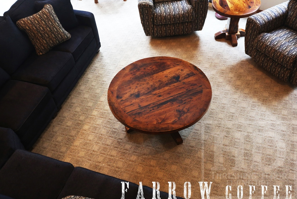 Reclaimed Wood Coffee Table Ontario Round Tables Epoxy Barnwood