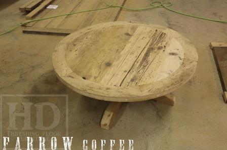 Reclaimed Wood Round Coffee Tables Epoxy Hemlock Gerald Reinink 11
