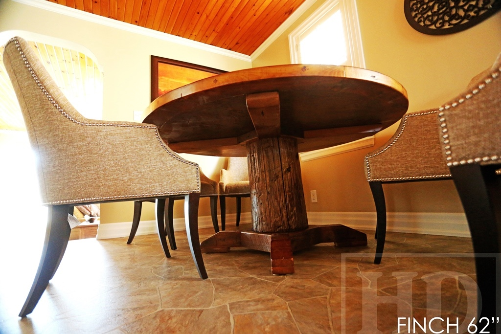 Reclaimed Wood Round Table Thornill Ontario Gerald Reinink