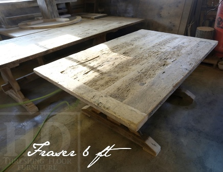 Sawbuck Table Reclaimed Wood Tables Oakville Ontario Hemlock Polyurethane