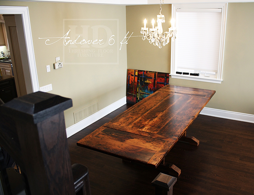 Reclaimed Wood Tables Toronto Ontario Epoxy Finish Farmhouse Dining Table Barnboard Furniture