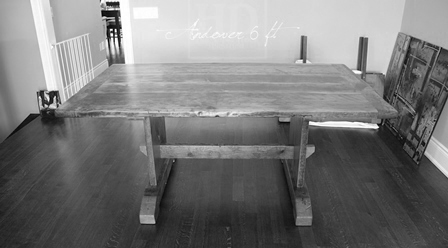 Details 6 Ft Trestle Table 42 Wide 2 Pine Threshing Floor Construction Premium Epoxy Matte Polyurethane Finish Two 18 Leaf Extensions