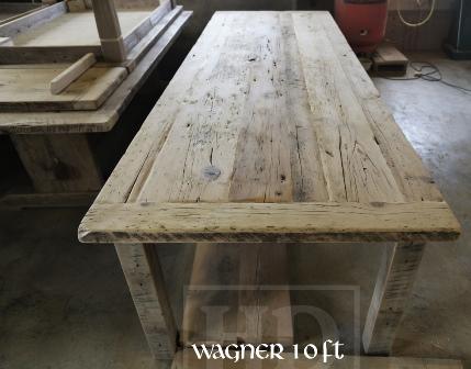 Specifications 10 Ft Harvest Table In Windsor Ontario 42 Width Reclaimed Hemlock Threshing Floor 2 Top Original Distressed Barnboard Edges