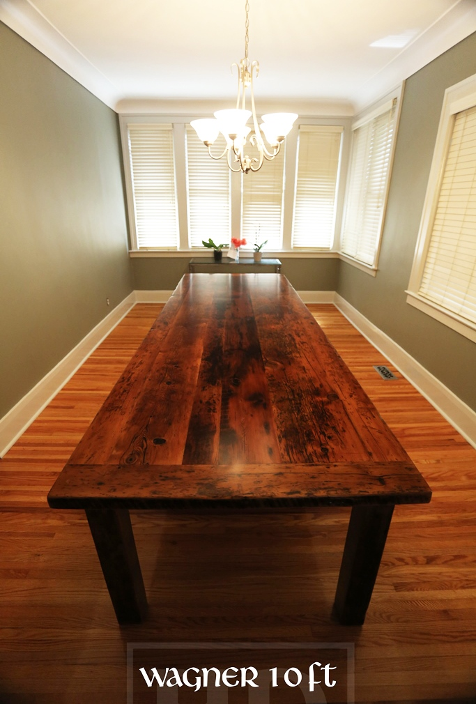 Custom Harvest Table in Windsor Ontario Made from Reclaimed