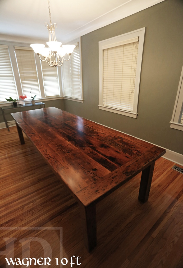 Custom harvest table in windsor ontario made from