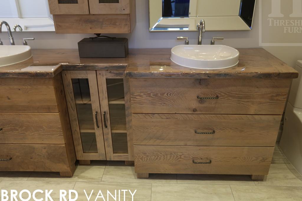 Custom Bathroom Vanities Ontario reclaimed wood vanity in toronto, ontario | blog