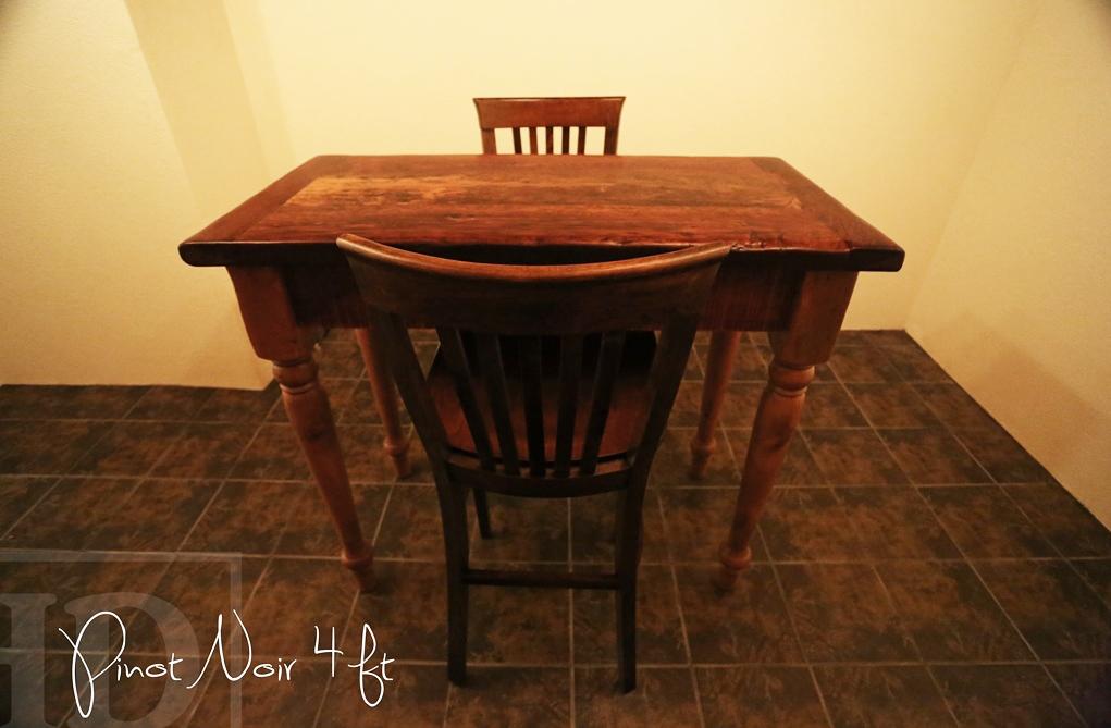 Wine Cellar Table, Reclaimed Wood Wine Cellar Table, Niagara, Ontario, Wine,
