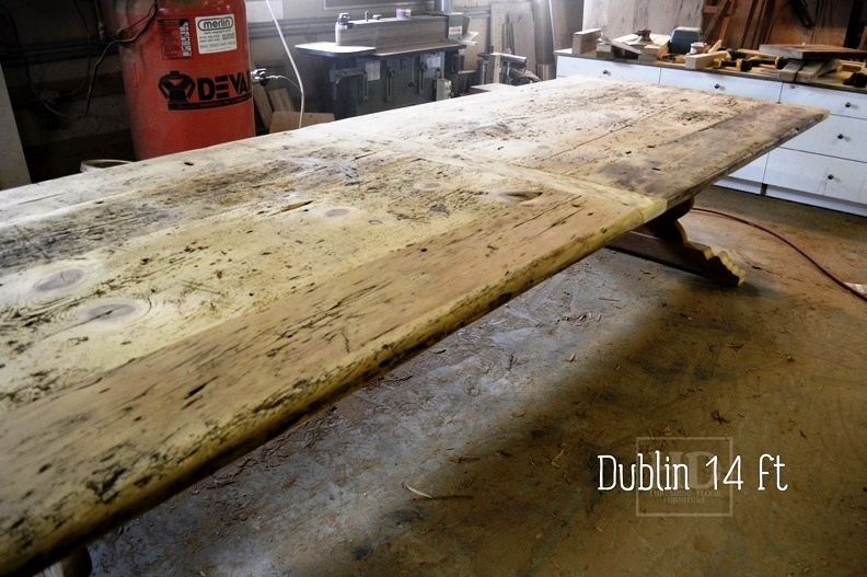 reclaimed wood tables Ontario, trestle table, Utopia, Ontario, Barnwood  Pine, Solid