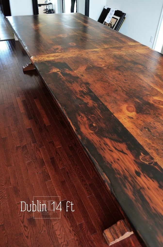 Reclaimed Wood Tables Ontario Trestle Table Utopia Barnwood Pine Solid
