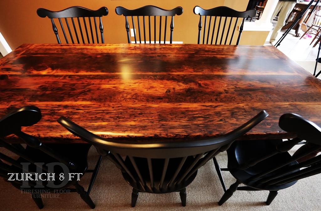 Specs 96 Harvest Table 42 Wide Premium Epoxy Polyurethane Finish Reclaimed Pine Threshing Floor 2 Top Turned Barnwood Windbrace Beams Legs
