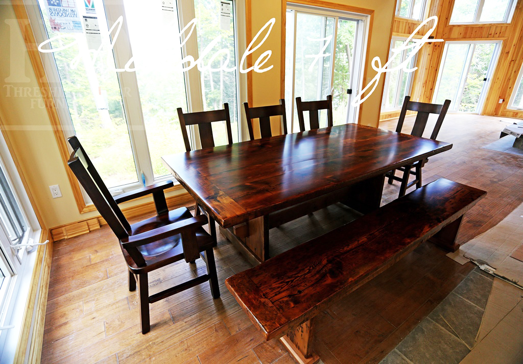 Desert Lake Ontario Cottage Trestle Table With Bench Plank Back Chairs Blog