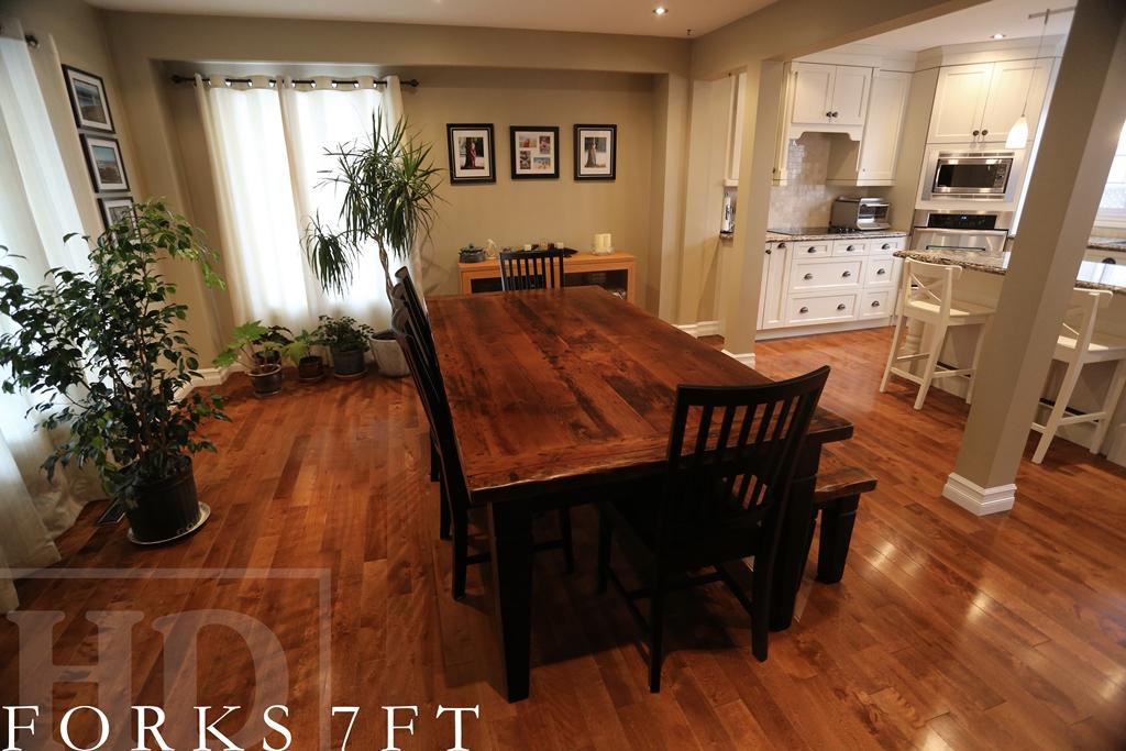 Harvest Table Toronto Ontario Epoxy Barnwood Farmhouse Dining Reinink