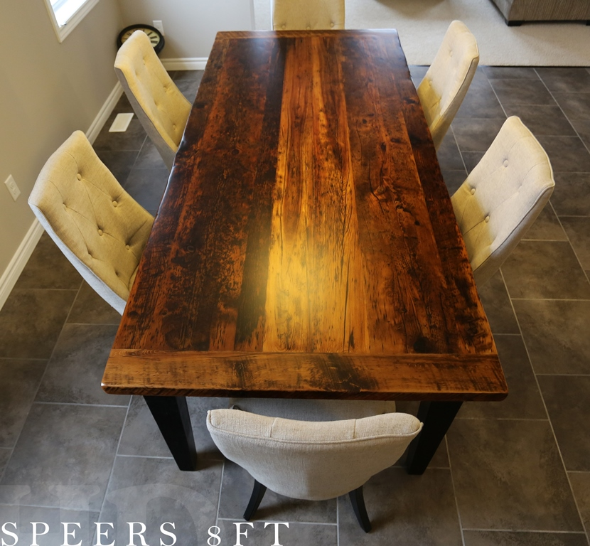 Reclaimed Wood Harvest Table In Kitchener Ontario Home Blog