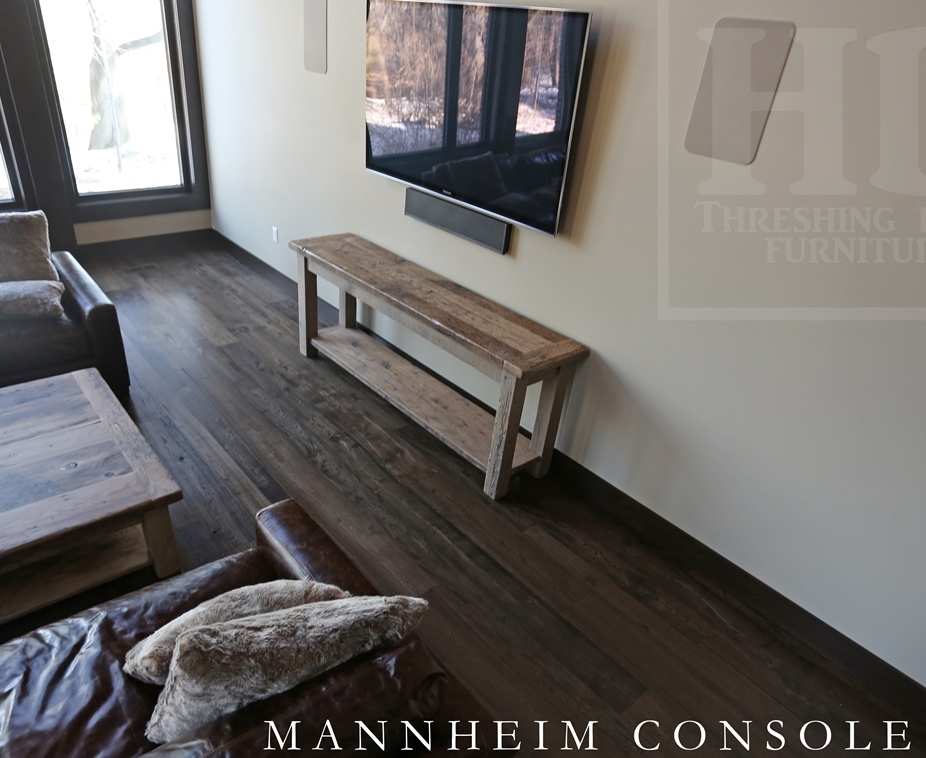 Foyer Bench Toronto : Reclaimed wood console media table in toronto ontario