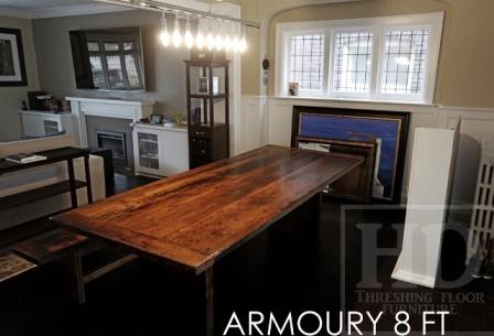 Details 85 Plank Table 42 Wide Premium Epoxy Matte Polyurethane Finish Reclaimed Barnwood Threshing Floor Hemlock Matching Foot Bench