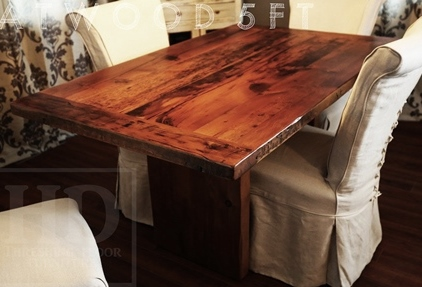 reclaimed wood tables Ontario, dining room table, HD Threshing ...