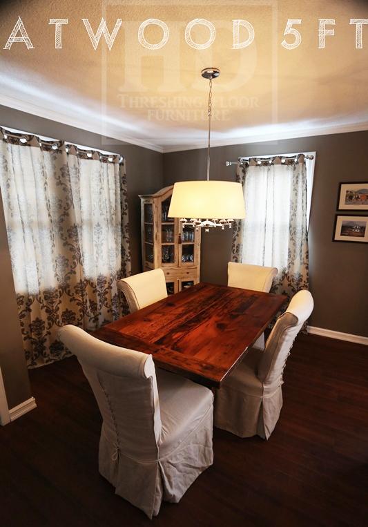 reclaimed wood tables Ontario, dining room table, HD Threshing ...