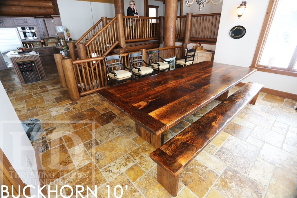 solid wood tables Ontario, custom tables Ontario, reclaimed wood table,  modern reclaimed table