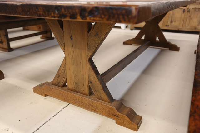 hemlock harvest table reclaimed wood furniture a