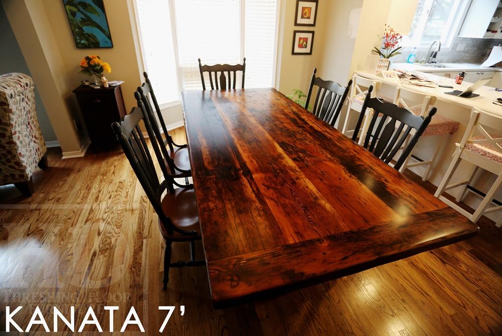 Ft kanata reclaimed wood table