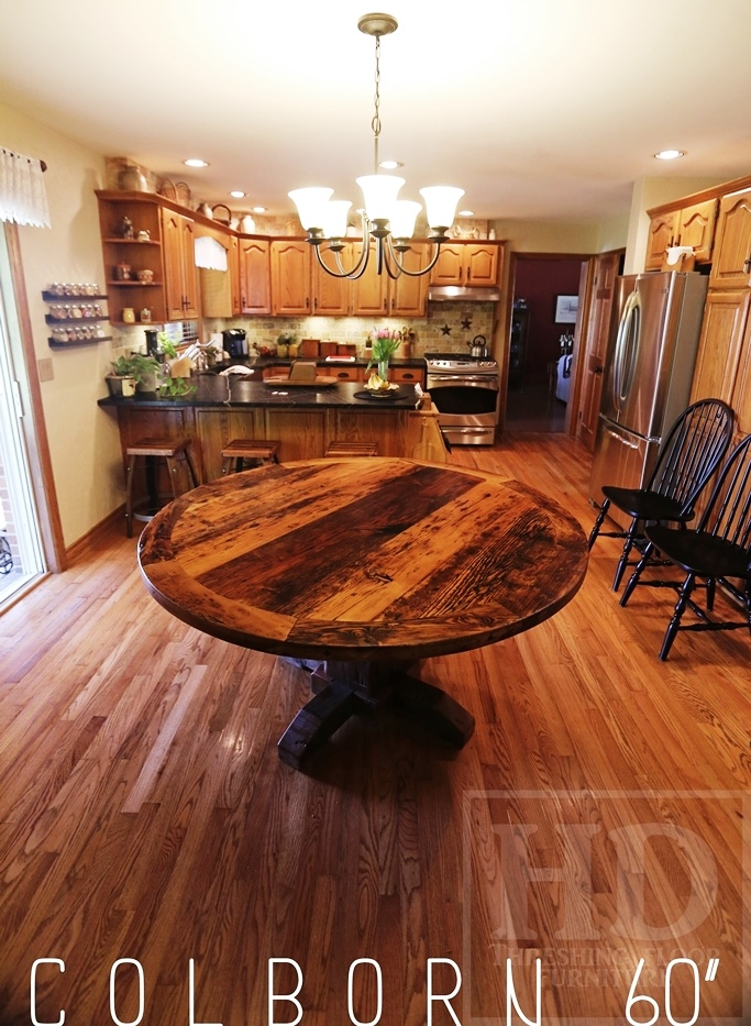 Reclaimed Wood Round Tables Ontario St. Anns Epoxy HD Threshing ...