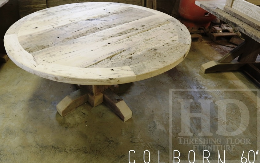 Reclaimed hemlock round barnwood table in st anns ontario blog - Inch round wood table top ...