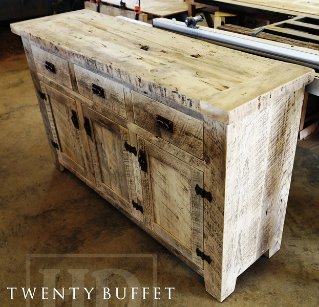 Reclaimed Wood Console Table, Buffet, Barnwood Cabinet, Hemlock, Whitewash,  Distressed White