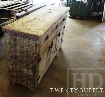 Reclaimed Wood Console Table, Buffet, Barnwood Cabinet, Hemlock, Whitewash,  Distressed White