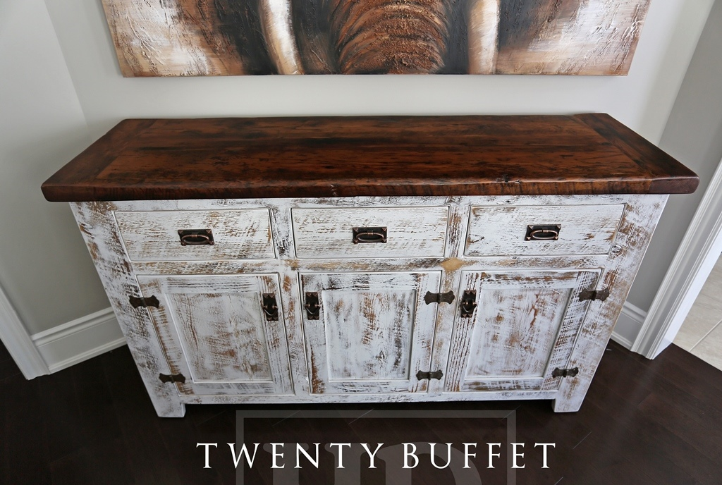 Reclaimed wood buffet console in aurora ontario home blog for 12 inch deep buffet table