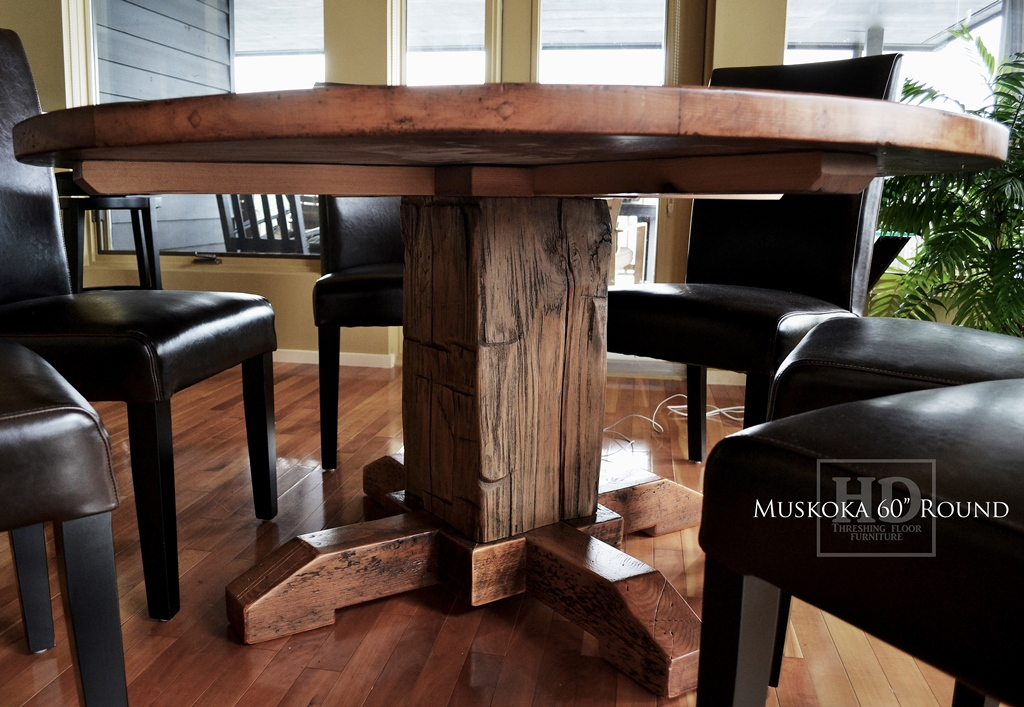 Reclaimed Wood Round Table Hardwood Chairs In Northern Cottage Blog